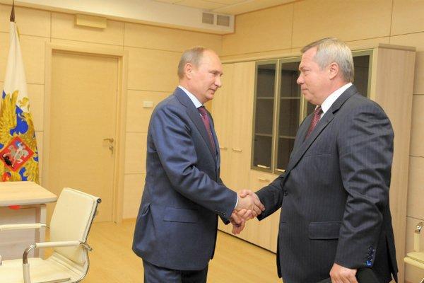 Владимир Путин провел рабочую встречу с Василиев Голубевым